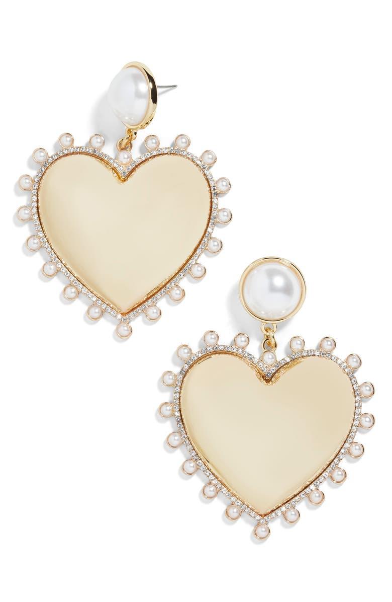 BAUBLEBAR Amalia Imitation Pearl Earrings, Main, color, 710