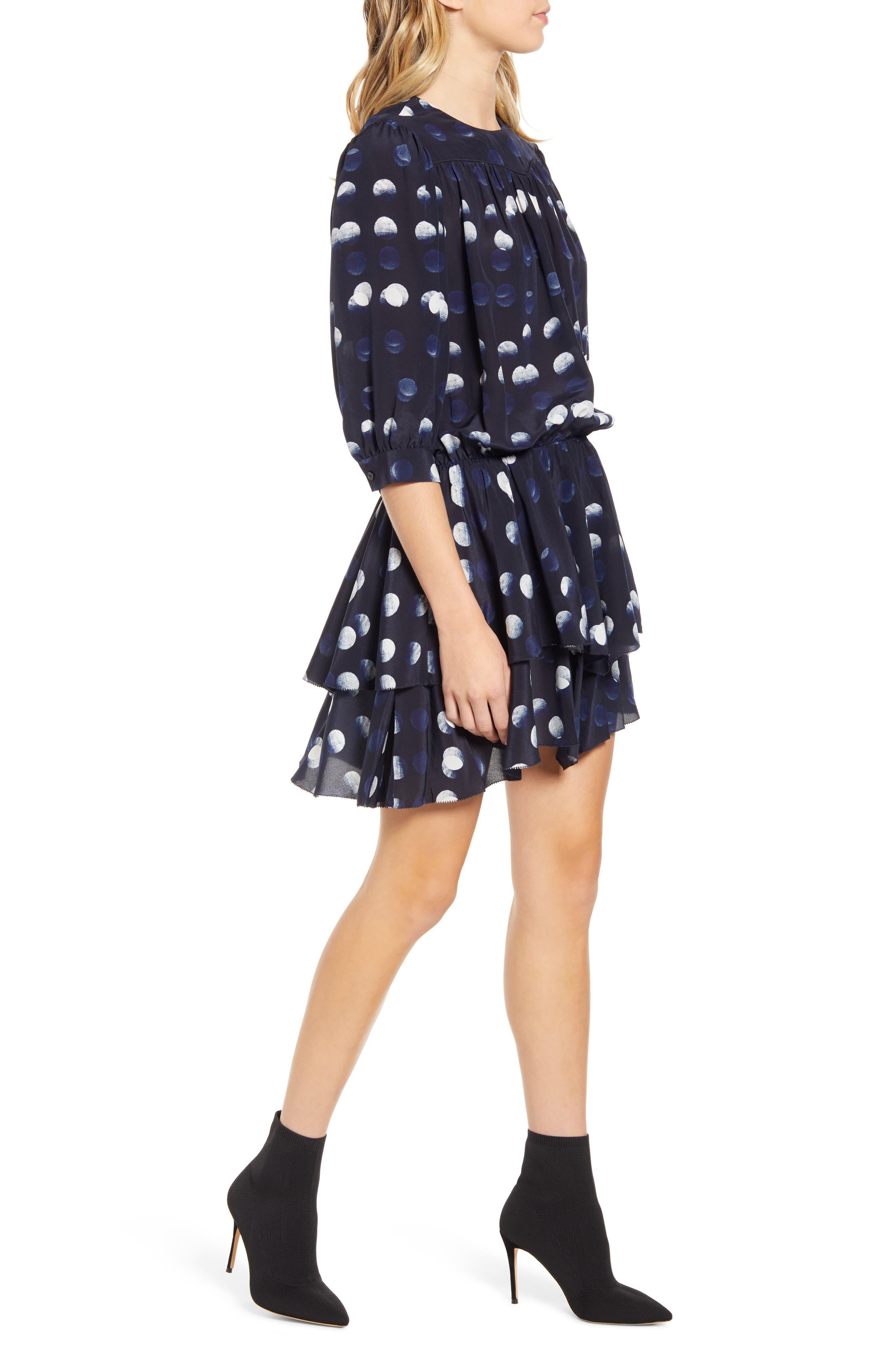 Zadig & Voltaire Dresses Rooka Dots Silk Fit & Flare Dress
