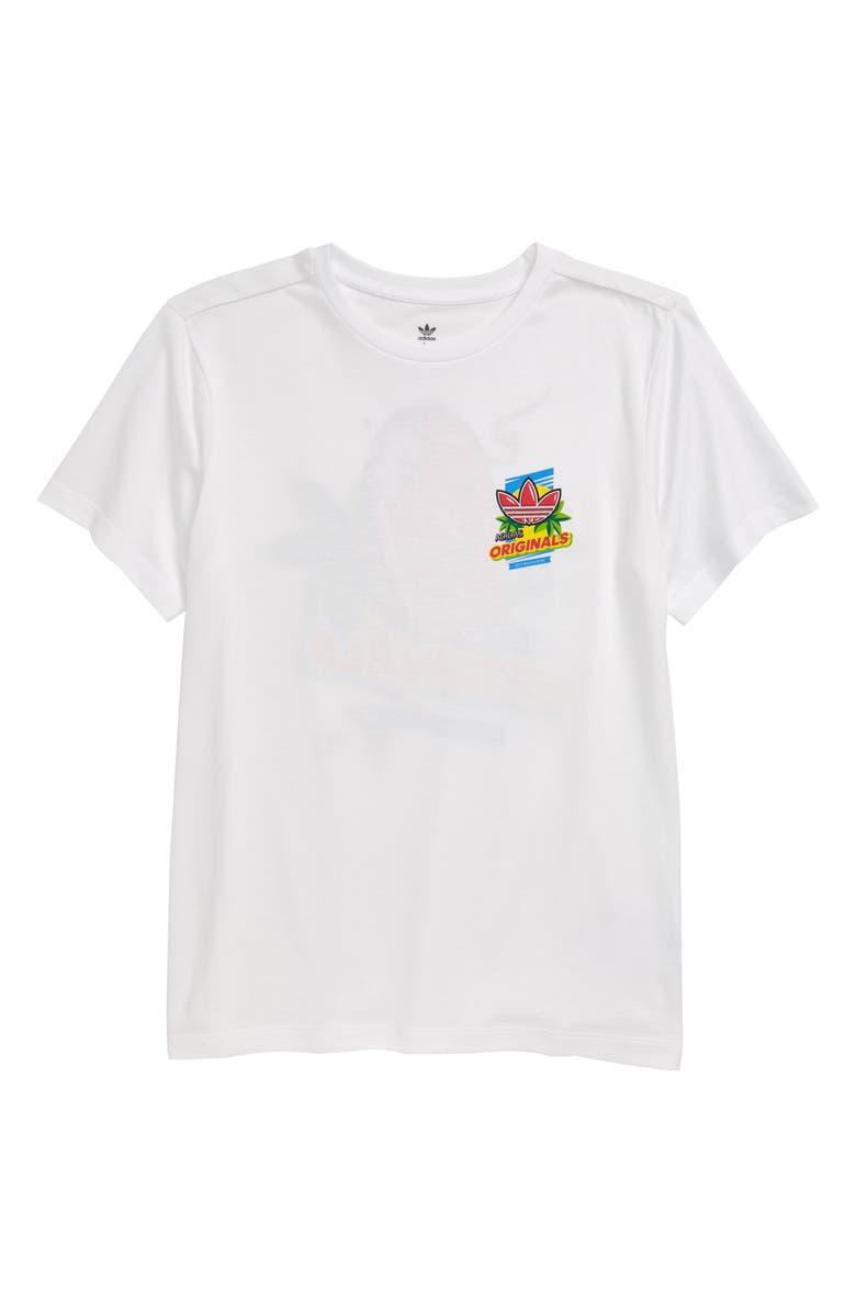 ADIDAS ORIGINALS Graphic T-Shirt, Main, color, WHITE