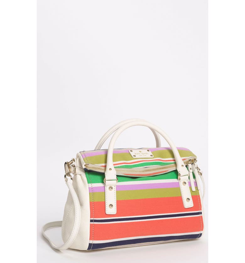 KATE SPADE NEW YORK 'cobble hill stripe - small leslie' satchel, Main, color, 174