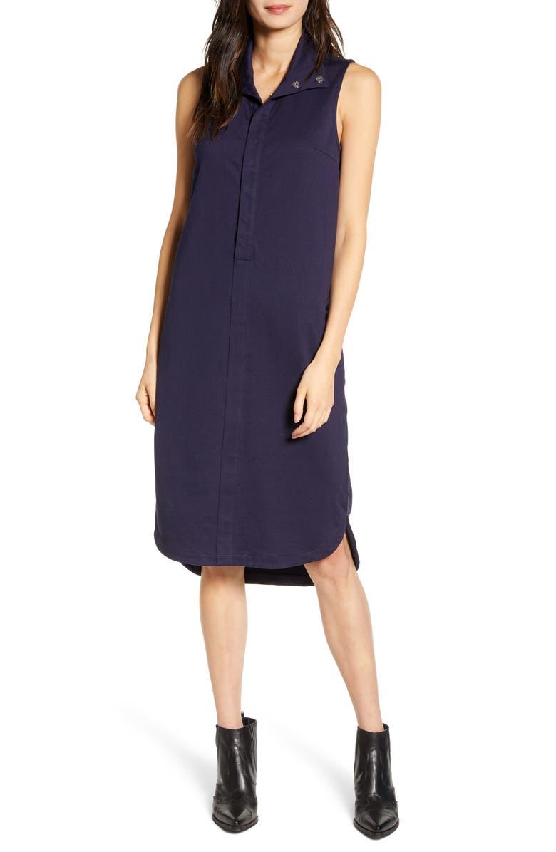 AG Bayle Sleeveless Shirtdress, Main, color, INDIGO INK