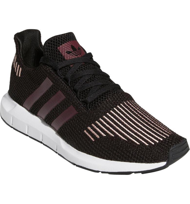 ADIDAS Swift Run Sneaker, Main, color, CORE BLACK/ MAROON/ PINK SWIFT