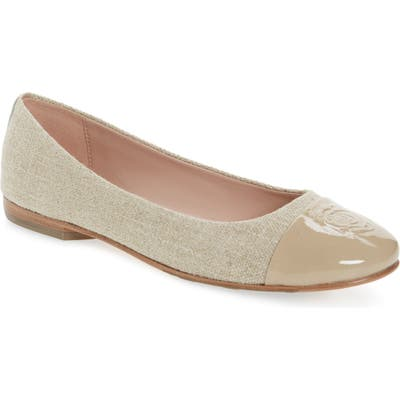 Taryn Rose Collection Adrianna Cap Toe Skimmer Flat