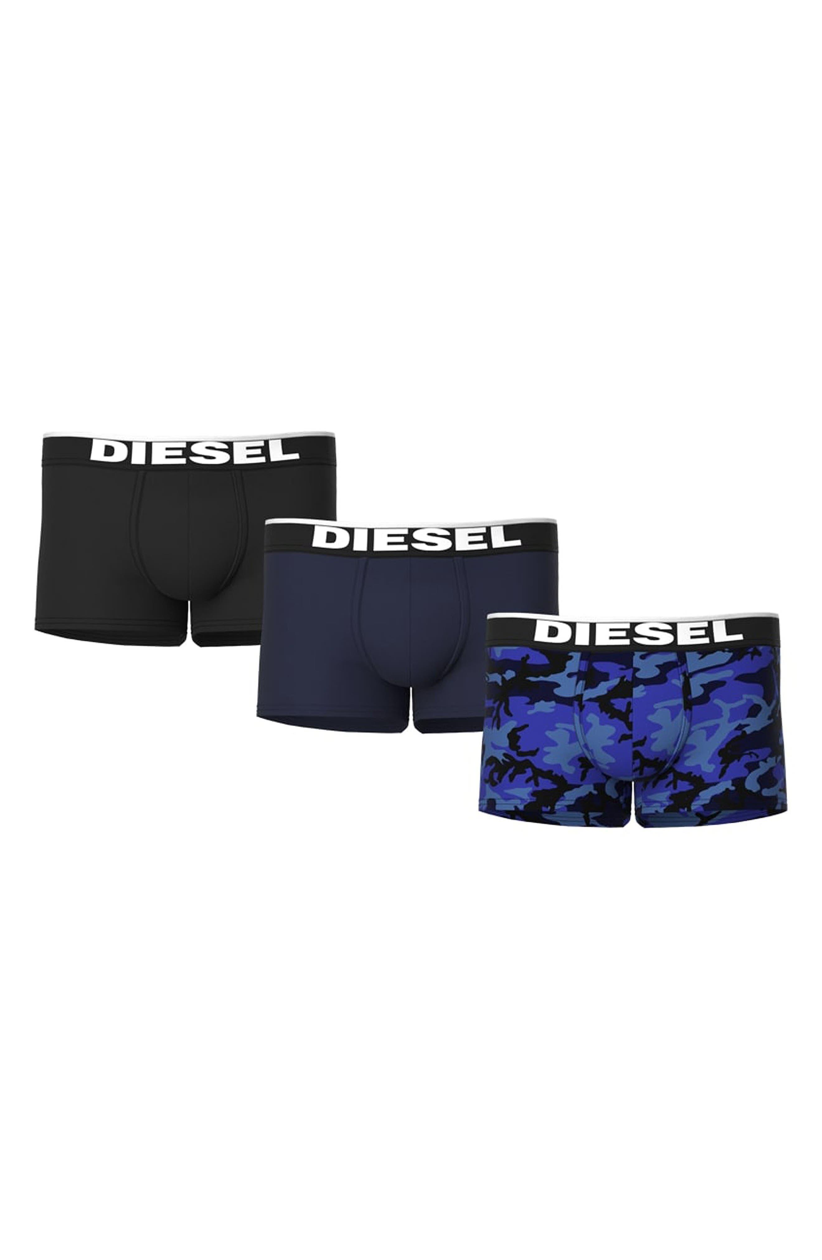 Men's Diesel Umbx-Damien Assorted 3-Pack Boxer Briefs