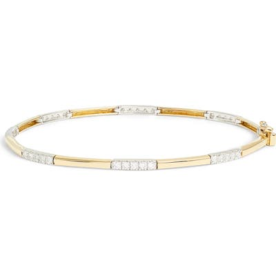 Bony Levy Diamond Station Two-Tone Bangle (Nordstrom Exclusive)