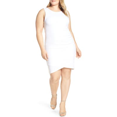 Plus Size Leith Ruched Sheath Dress, White
