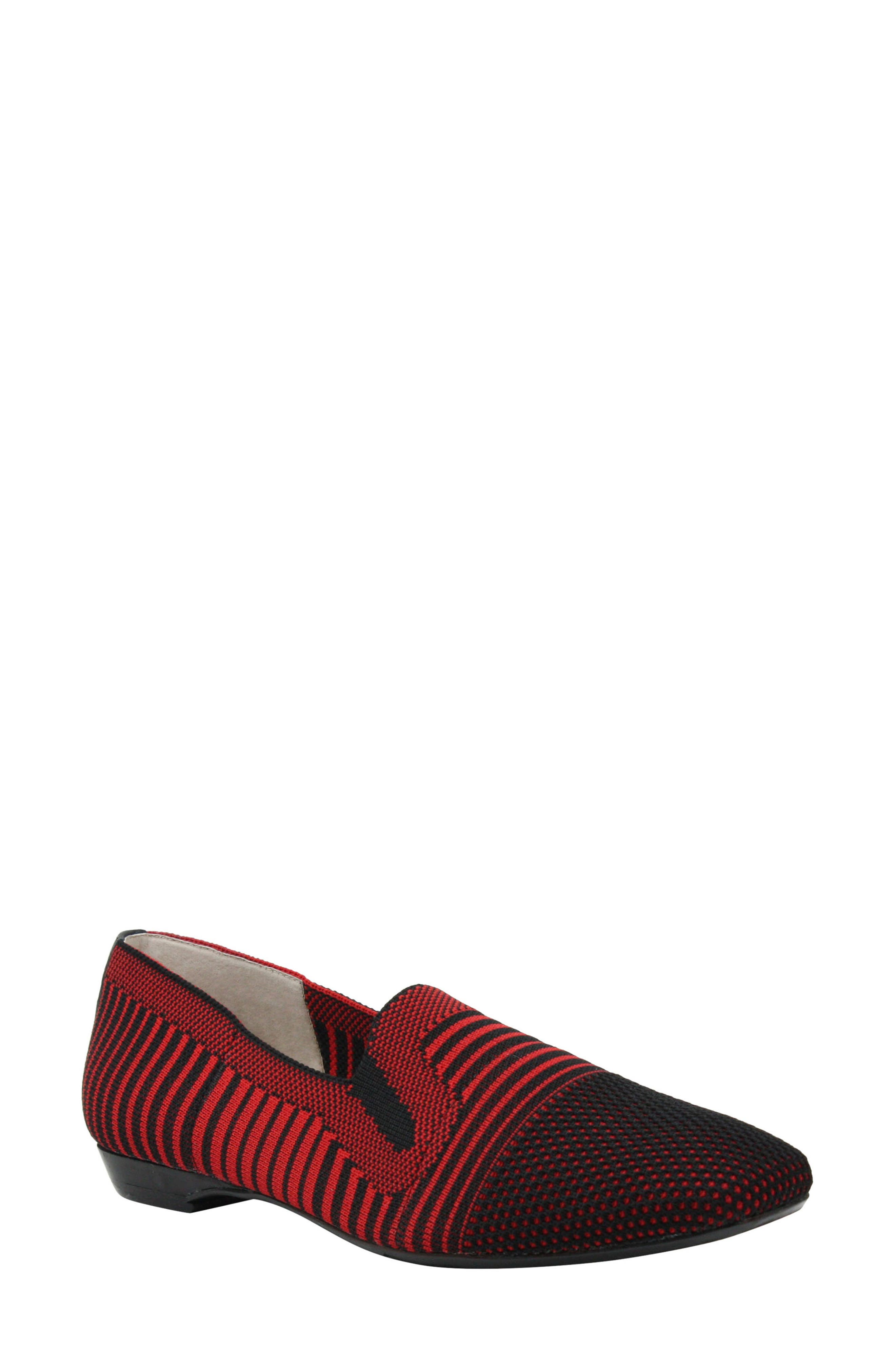 Martyne Smoking Slipper, Main, color, RED/ BLACK