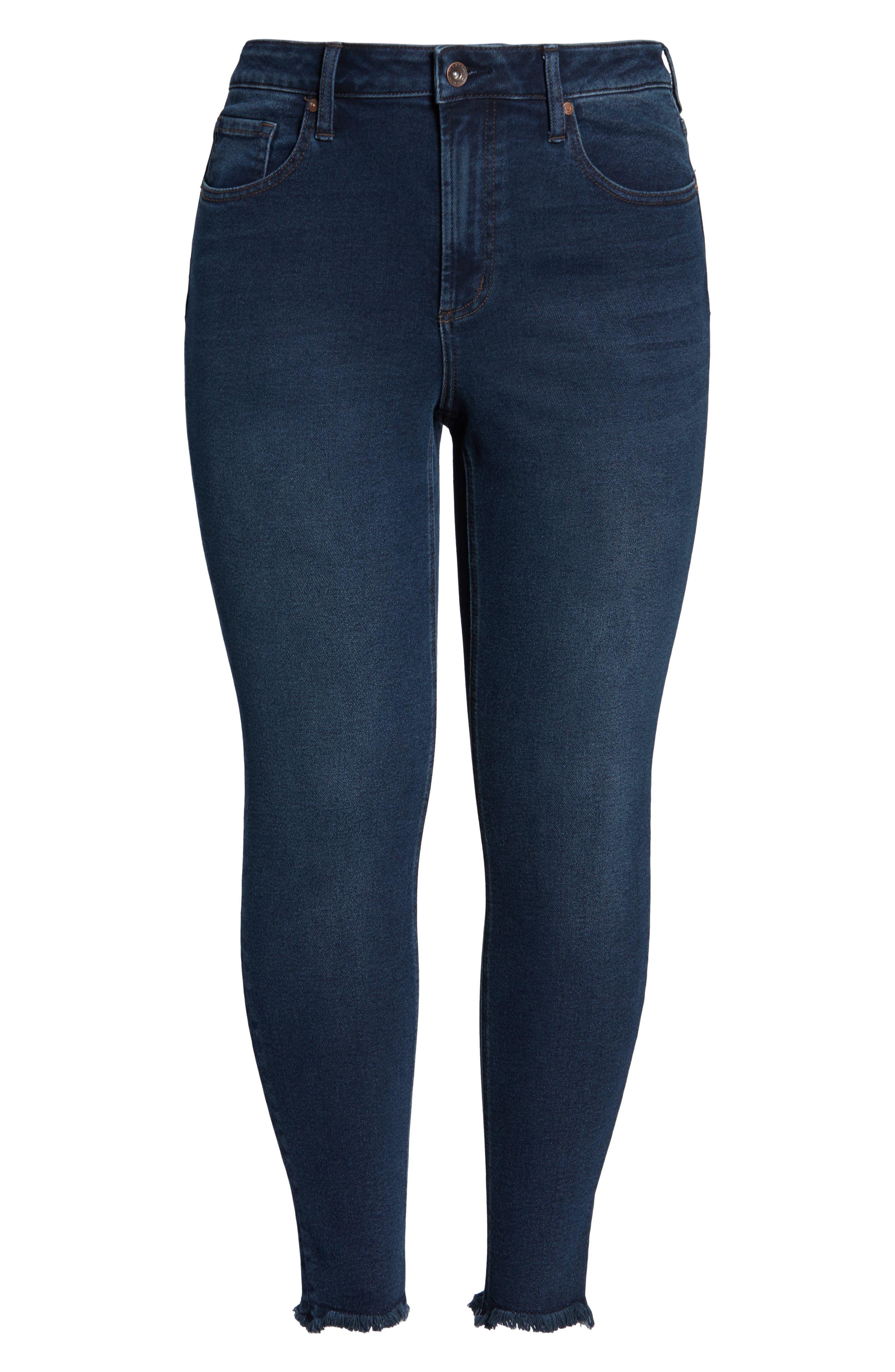 ,                             Perfect Vintage High Waist Core Fringe Hem Skinny Jeans,                             Alternate thumbnail 7, color,                             WINSTON
