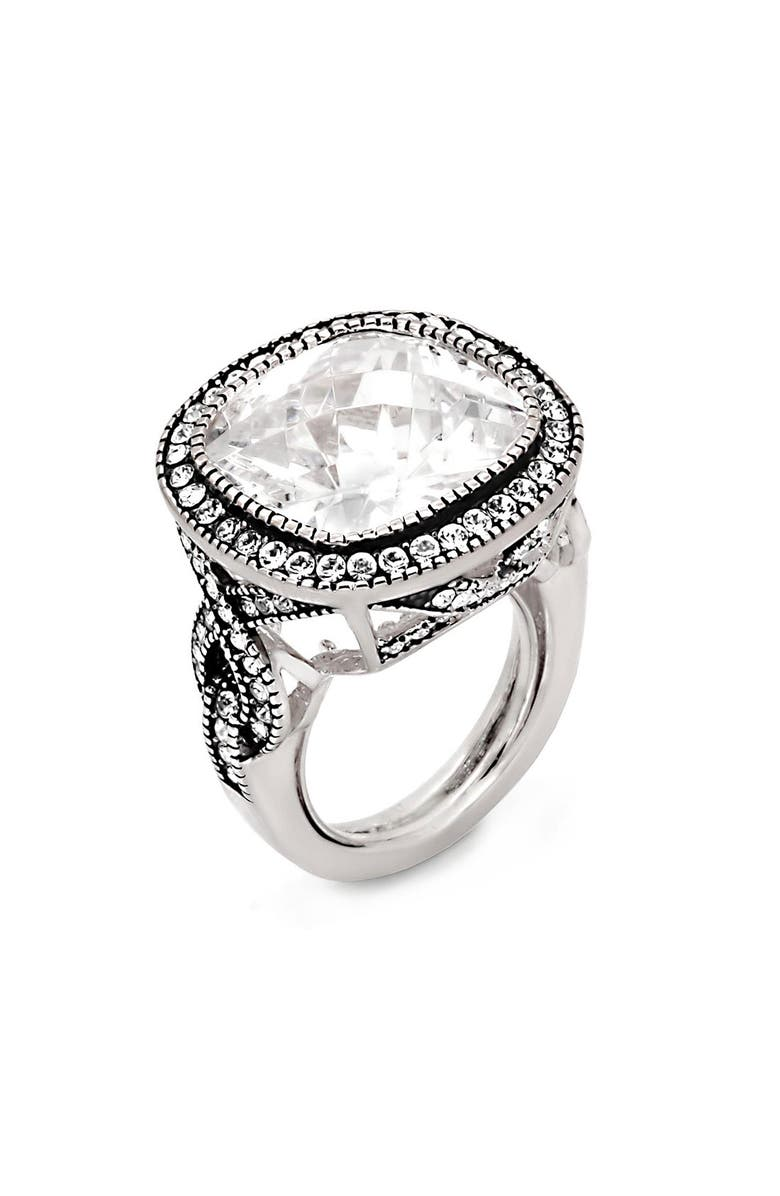 ARIELLA COLLECTION Large Cubic Zirconia Ring, Main, color, 040