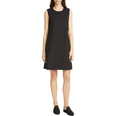 Eileen Fisher Sleeveless Organic Stretch Cotton Dress, Black