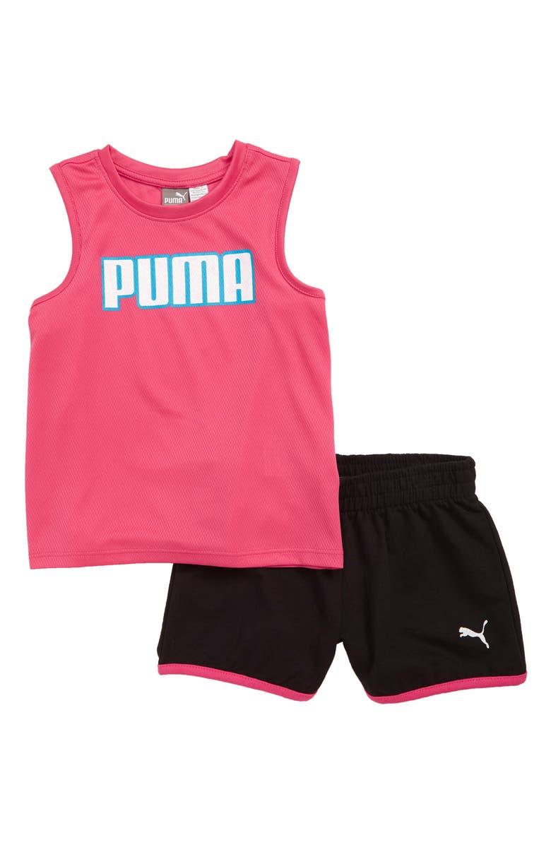 PUMA Fashion Mesh Tank & Shorts Set, Main, color, 581