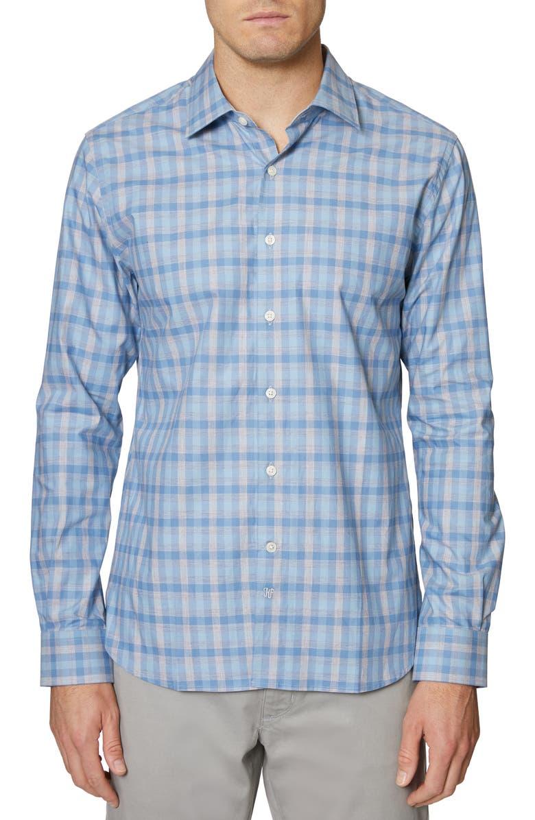 HICKEY FREEMAN Check Regular Fit Shirt, Main, color, BLUE/ SILVER