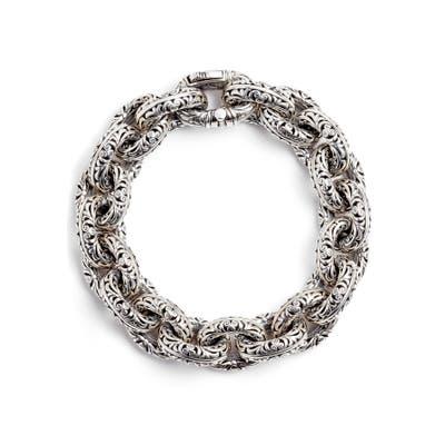 Konstantino Etched Sterling Silver Filigree Bracelet