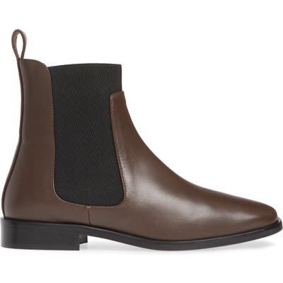 Everlane The Square Toe Chelsea Boot- Brown