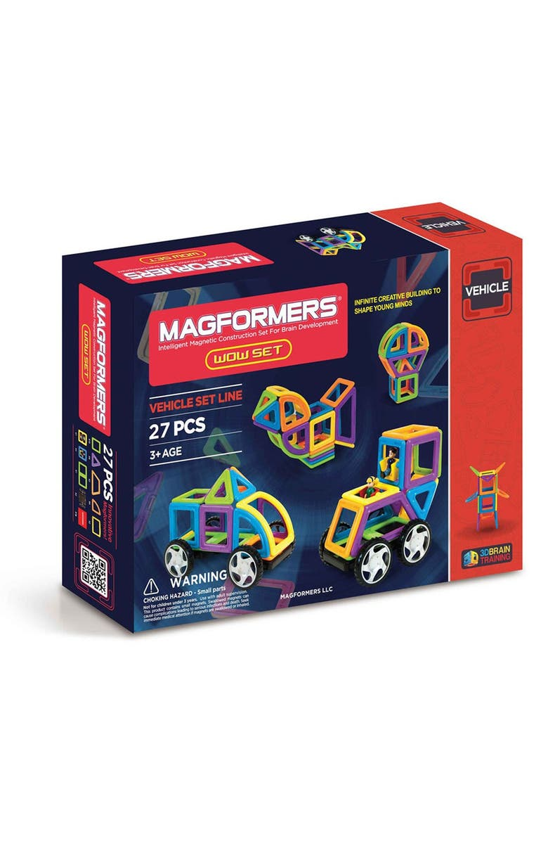 MAGFORMERS 'Vehicle - WOW' Magnetic 3D Construction Set, Main, color, OPAQUE RAINBOW