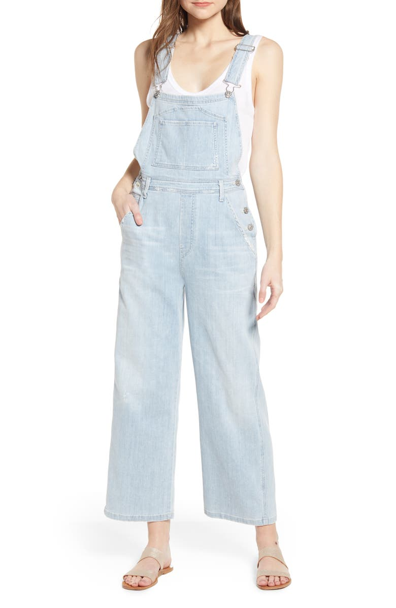CITIZENS OF HUMANITY Christie Wide Leg Denim Overalls, Main, color, 452