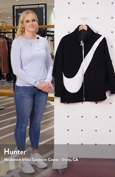 Sportswear Swoosh Reversible Faux Shearling Jacket, sales video thumbnail