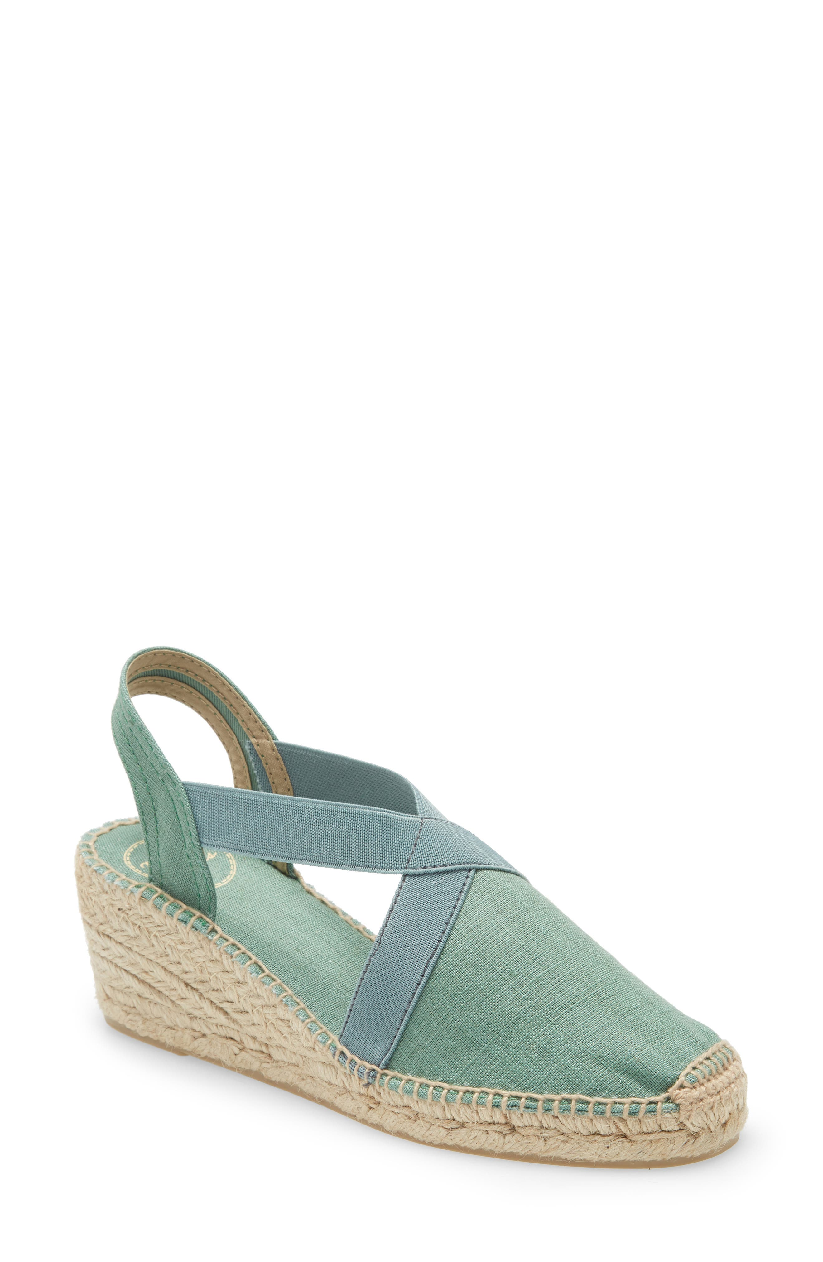 Sophistication and ease combine on this chic sandal from Toni Pons, a company that has been making stylish espadrilles for over 50 years. With a slingback strap that features elastic bands for a comfy, custom fit and a lightly padded footbed and flexible sole, you\\\'ll want to wear this linen sandal all summer long. Style Name: Toni Pons \\\'Ter\\\' Slingback Espadrille Sandal (Women). Style Number: 1056901 1. Available in stores.