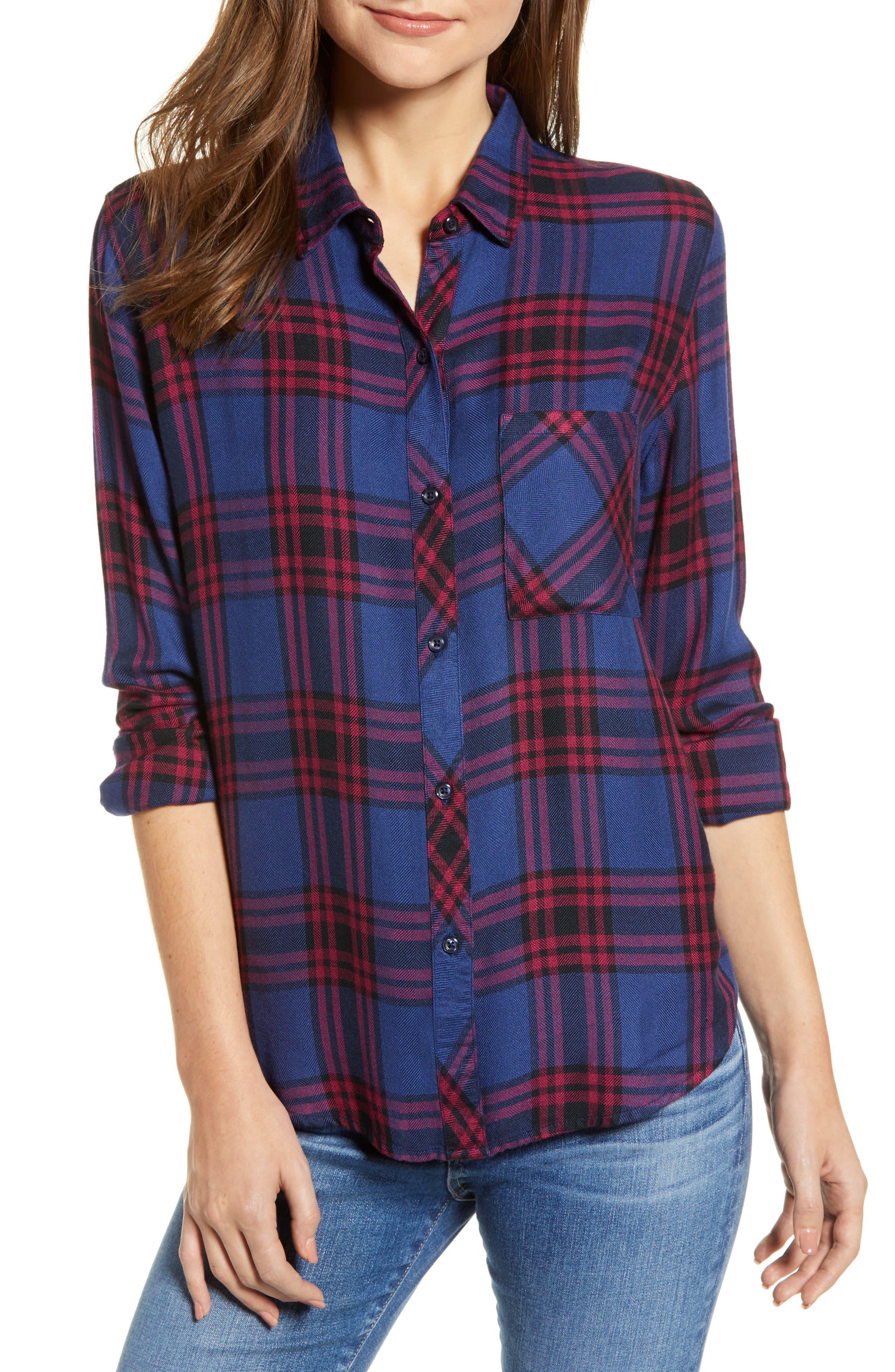 ,                             Hunter Plaid Shirt,                             Main thumbnail 379, color,                             450