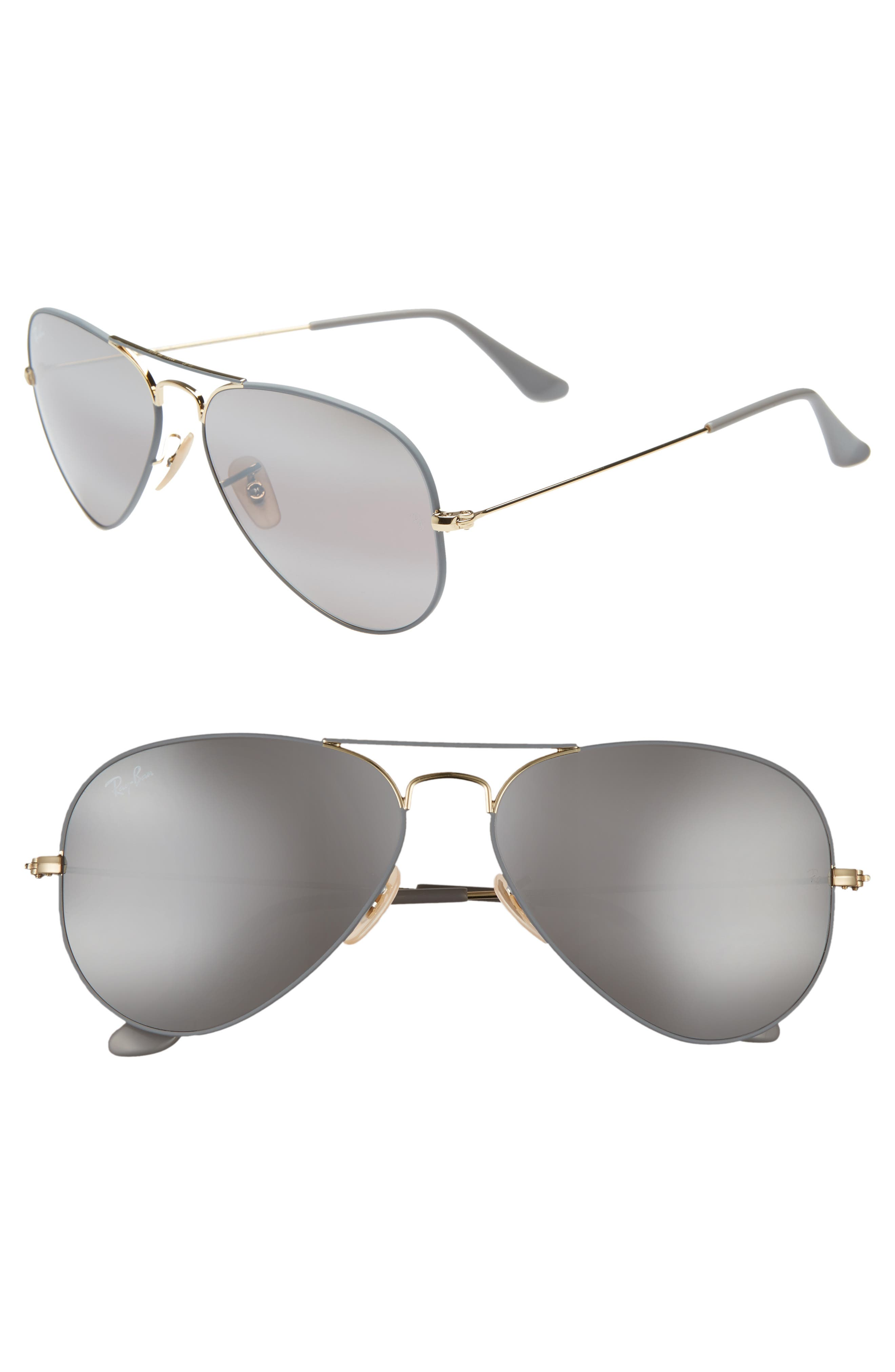 Ray-Ban Original Aviator 5m Sunglasses - Gold Grey