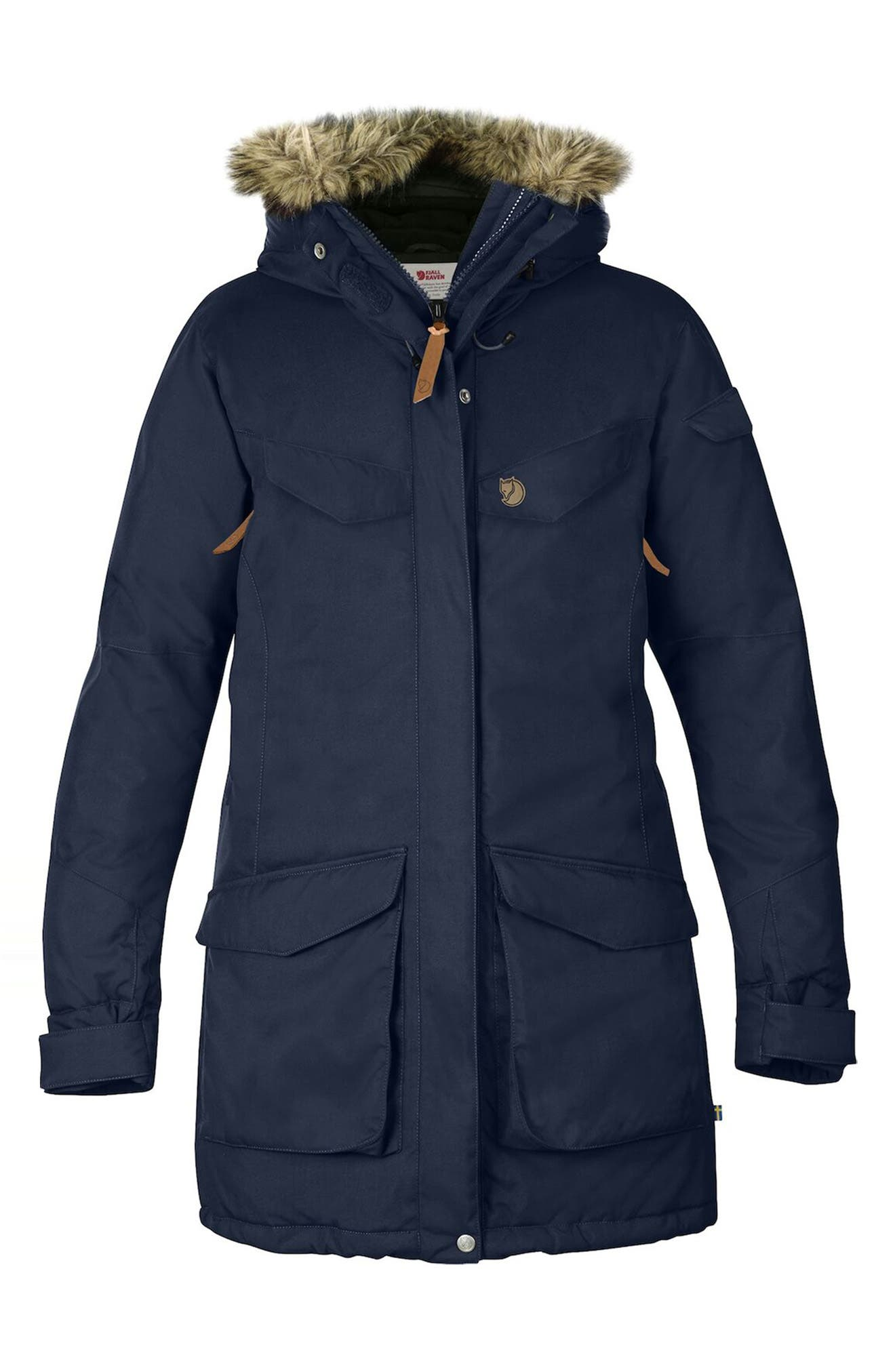 Nuuk Waterproof Parka With Removable Faux Fur Trim