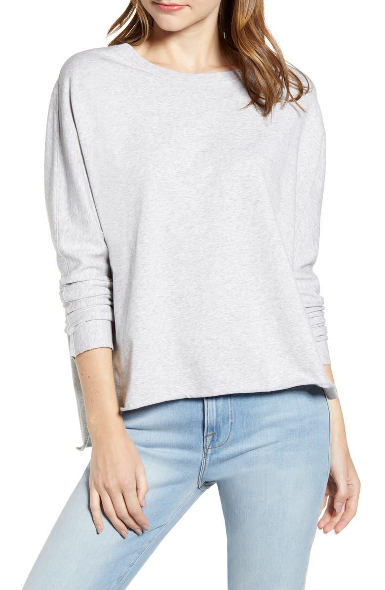 FRANK & EILEEN Tee Lab Oversize Sweatshirt, Main, color, GRAY MELANGE