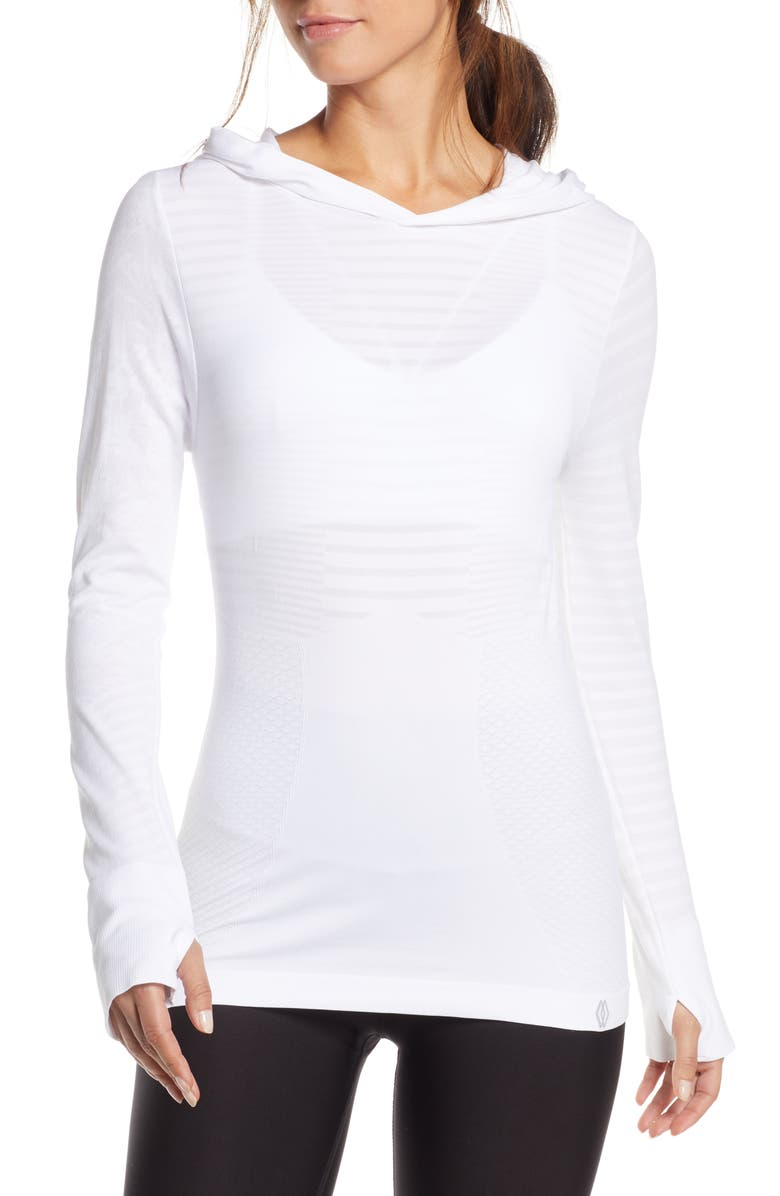 CLIMAWEAR Dhyana Performance Hoodie, Main, color, WHITE