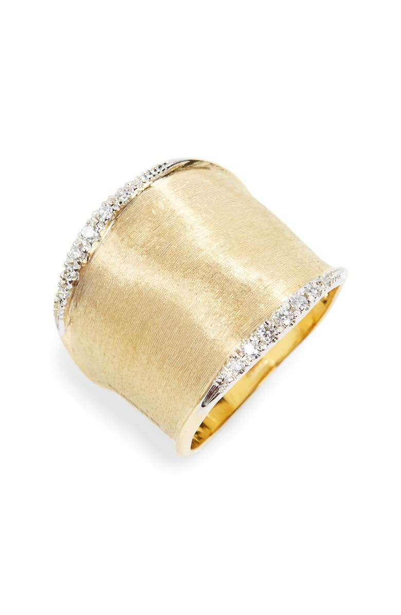 MARCO BICEGO Lunaria Diamond Band Ring, Main, color, YELLOW GOLD/ WHITE GOLD