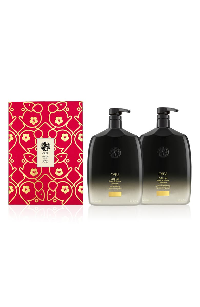 ORIBE Lunar New Year Jumbo Gold Lust Repair & Restore Shampoo and Conditioner Set, Main, color, NO COLOR