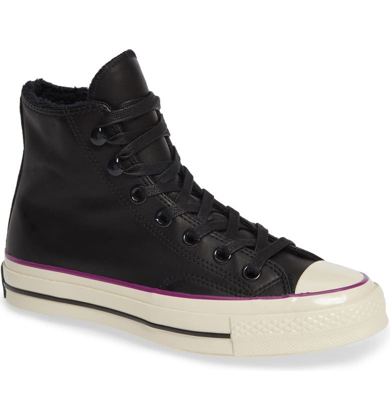 CONVERSE Chuck Taylor<sup>®</sup> All Star<sup>®</sup> CT 70 Street Warmer High Top Sneaker, Main, color, 001