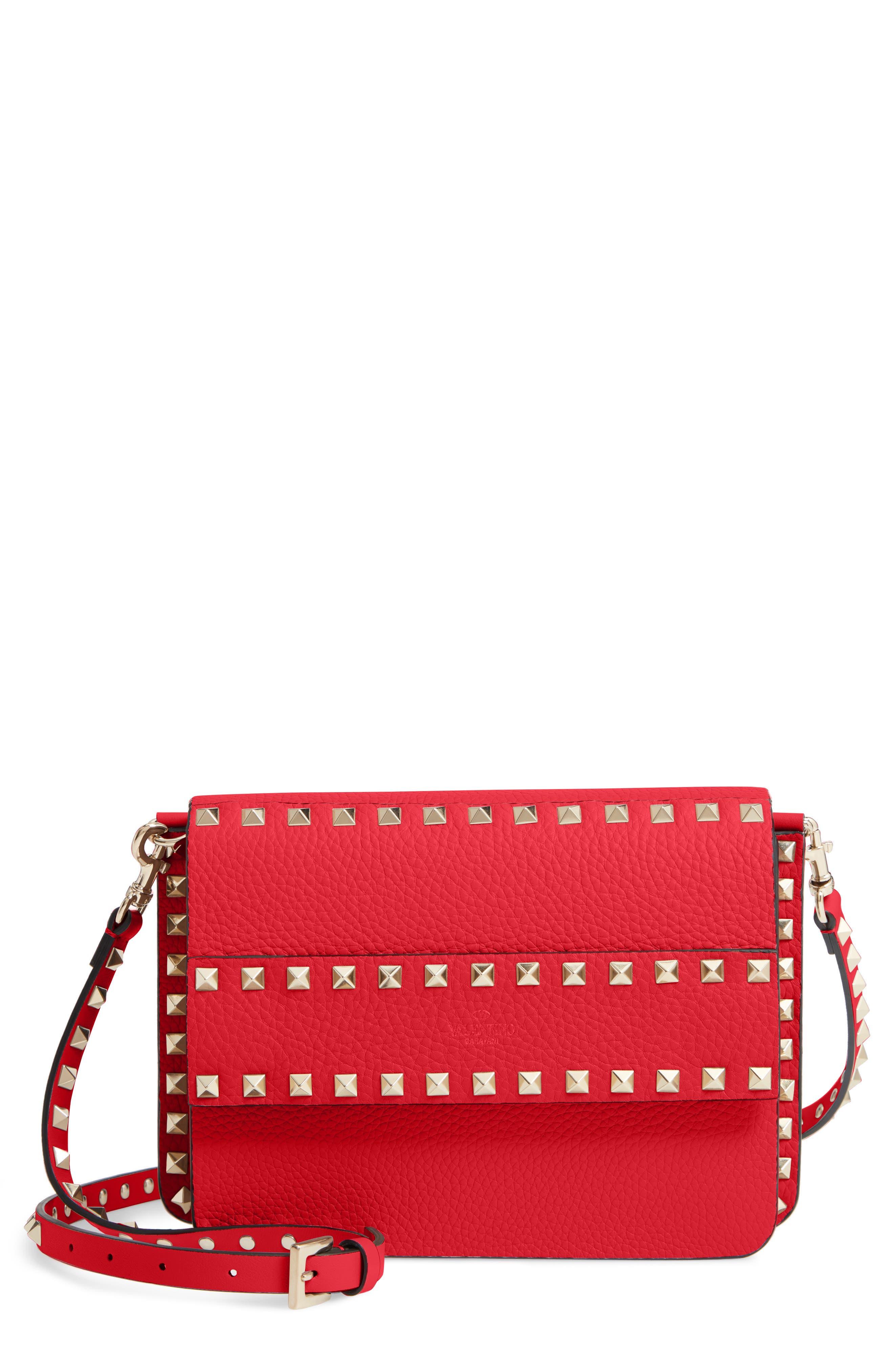 Valentino Garavani Small Rockstud Calfskin Leather Shoulder Bag | Nordstrom
