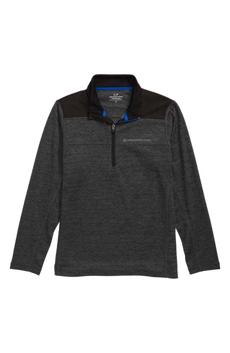 VINEYARD VINES New Sankaty Performance Half Zip Shep Shirt, Main, color, EVENING SKY