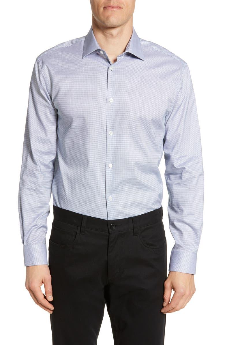 John Varvatos Star USA Trim Fit Print Dress Shirt