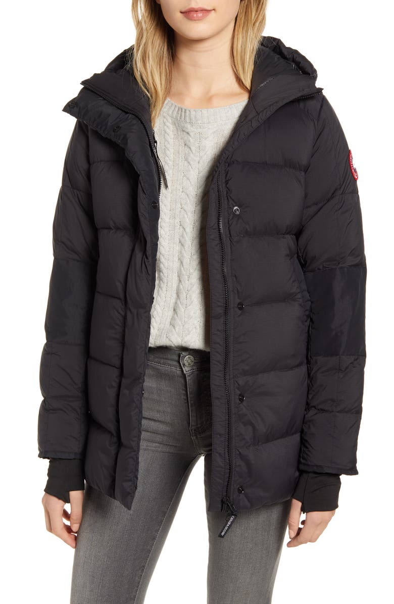 CANADA GOOSE Alliston Packable Down Jacket, Main, color, BLACK