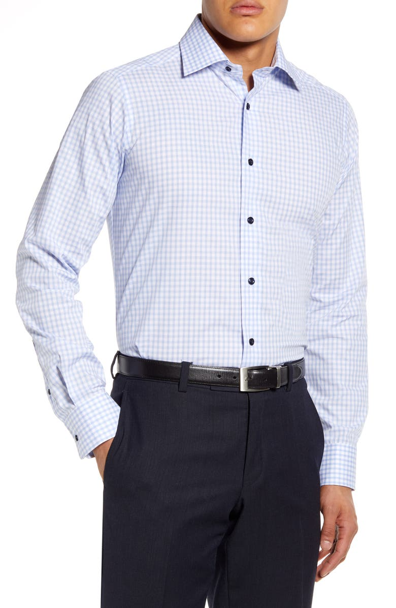 DAVID DONAHUE Slim Fit Check Dress Shirt, Main, color, 400