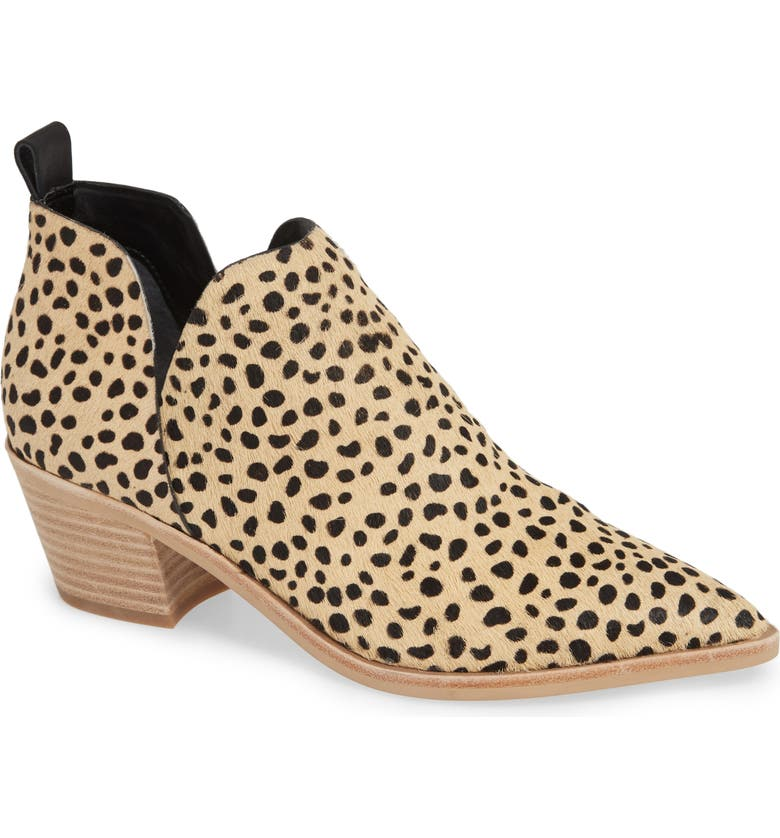 DOLCE VITA Sonni Pointy Toe Bootie, Main, color, LEOPARD PRINT CALF HAIR