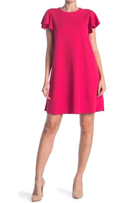 Image of TASH + SOPHIE Flutter Sleeve A-Line Dress
