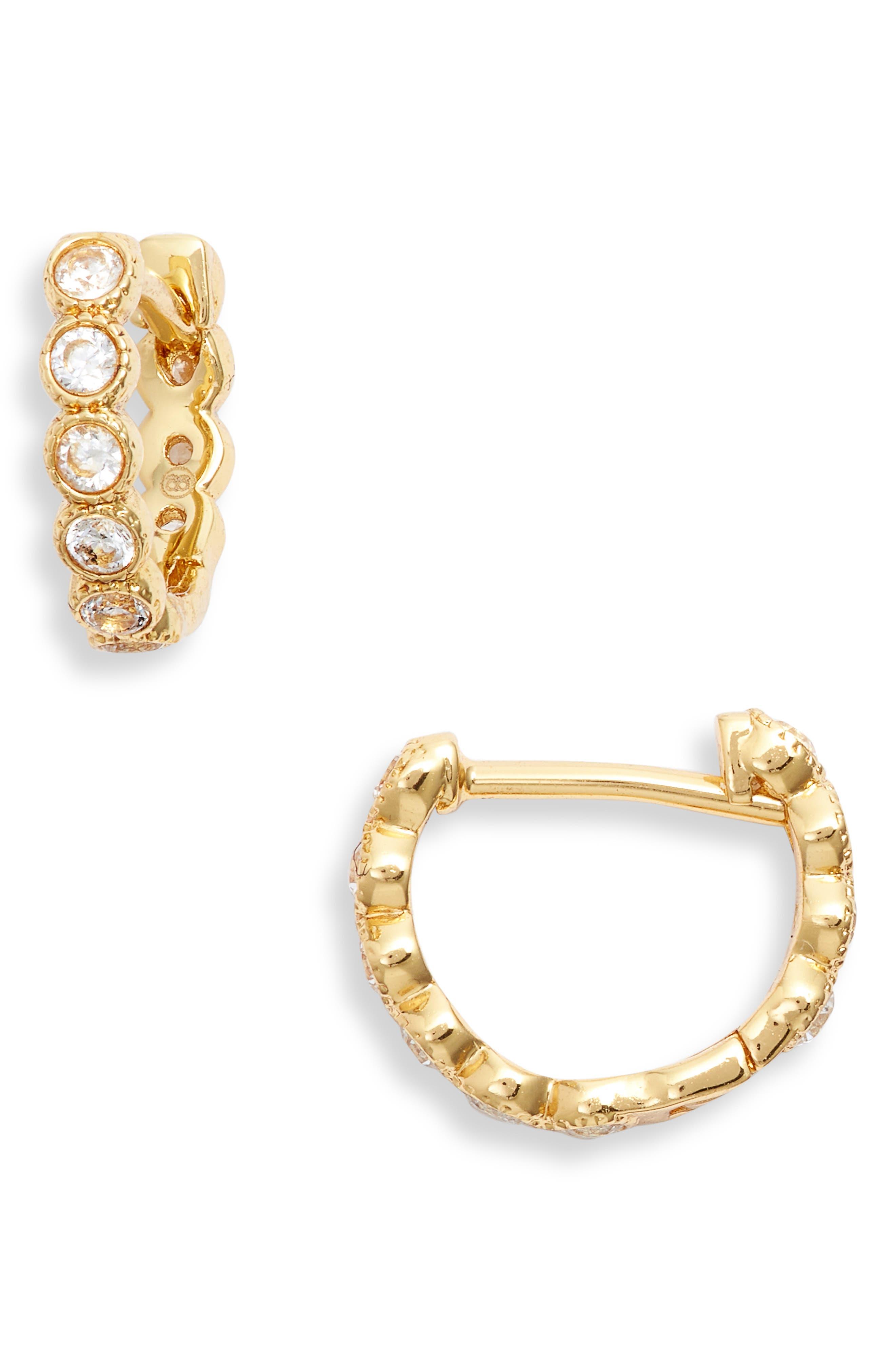 Madison Shimmer Huggie Hoop Earrings