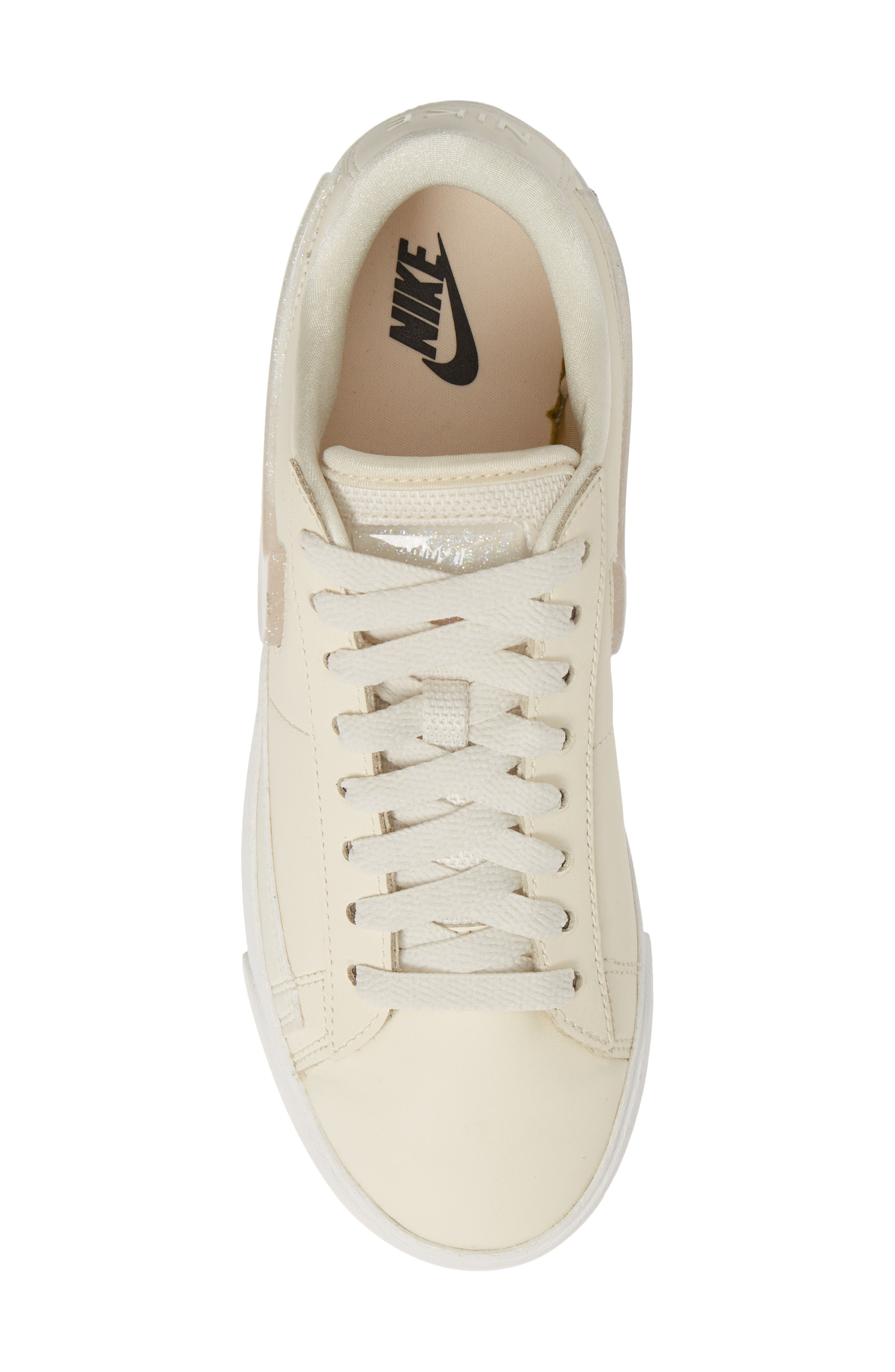 ,                             Blazer Low LX Sneaker,                             Alternate thumbnail 5, color,                             PALE IVORY/ GUAVA ICE/ WHITE