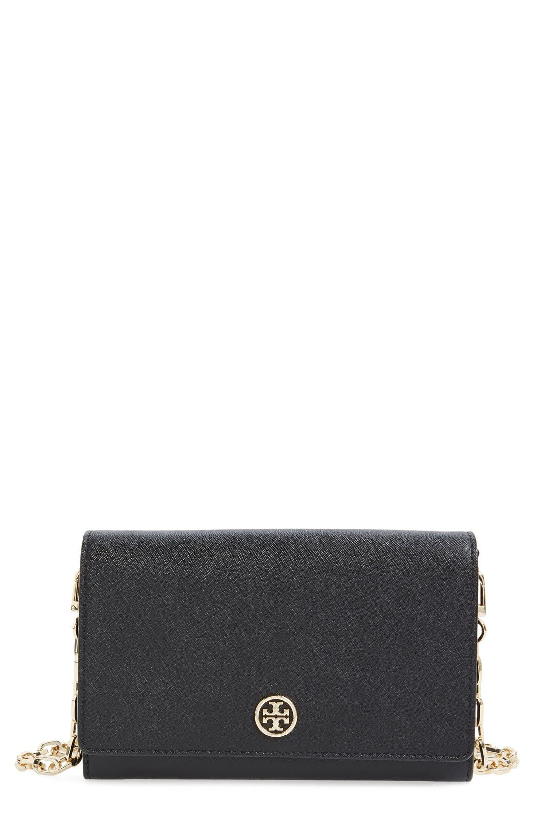 ,                             'Robinson' Leather Wallet on a Chain,                             Main thumbnail 4, color,                             002