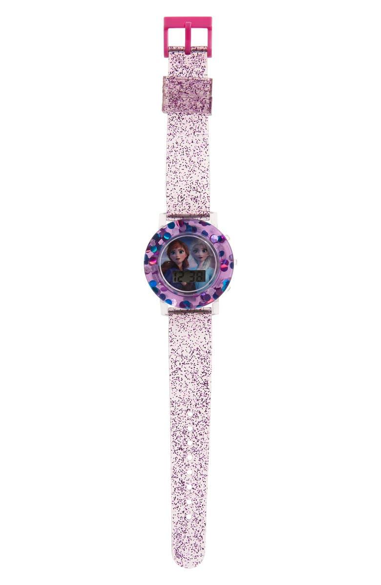 ACCUTIME Disney Frozen Sequin Digital Watch, Main, color, 500