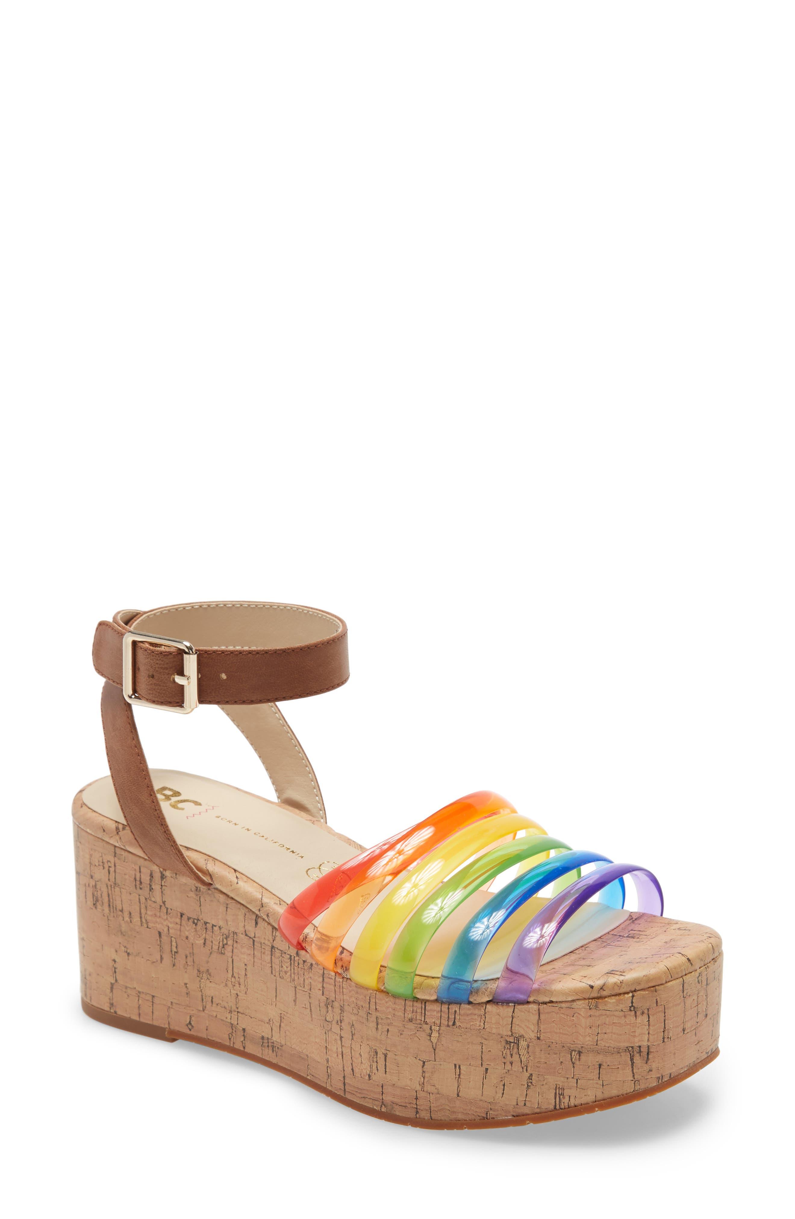 Sorry Not Sorry Platform Wedge Sandal