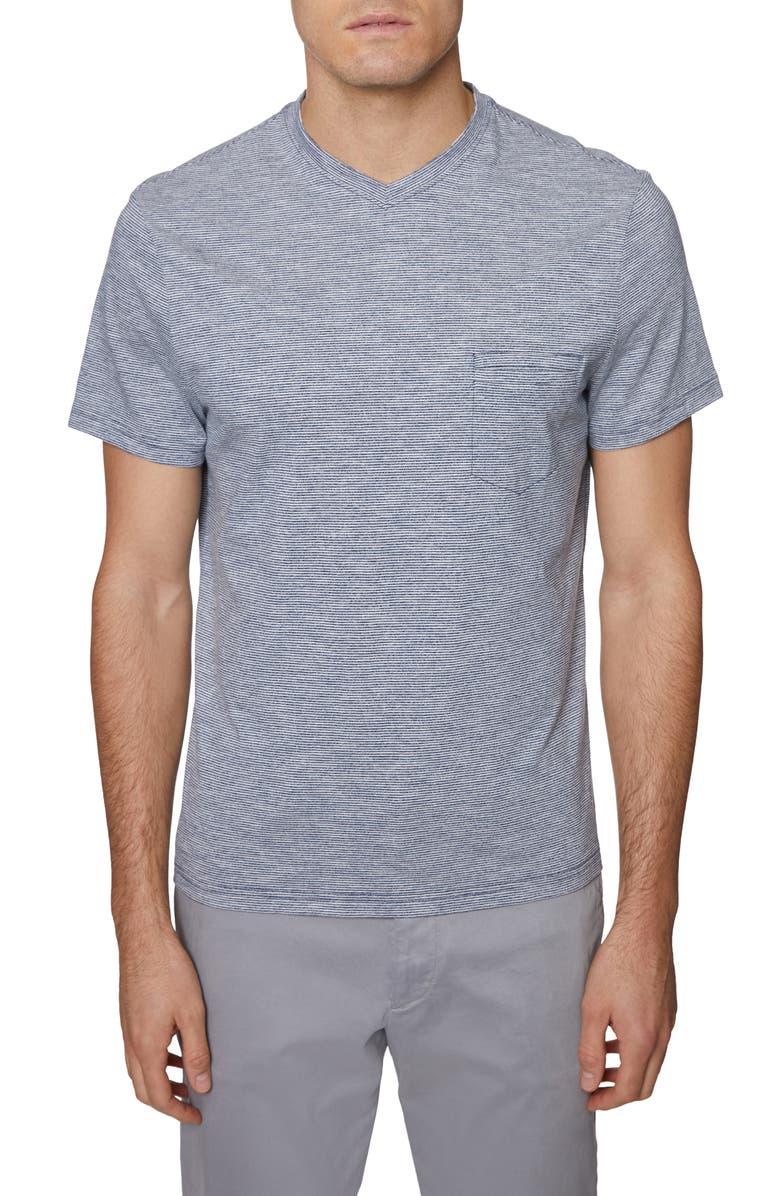 HICKEY FREEMAN V-Neck Pocket T-Shirt, Main, color, NAVY