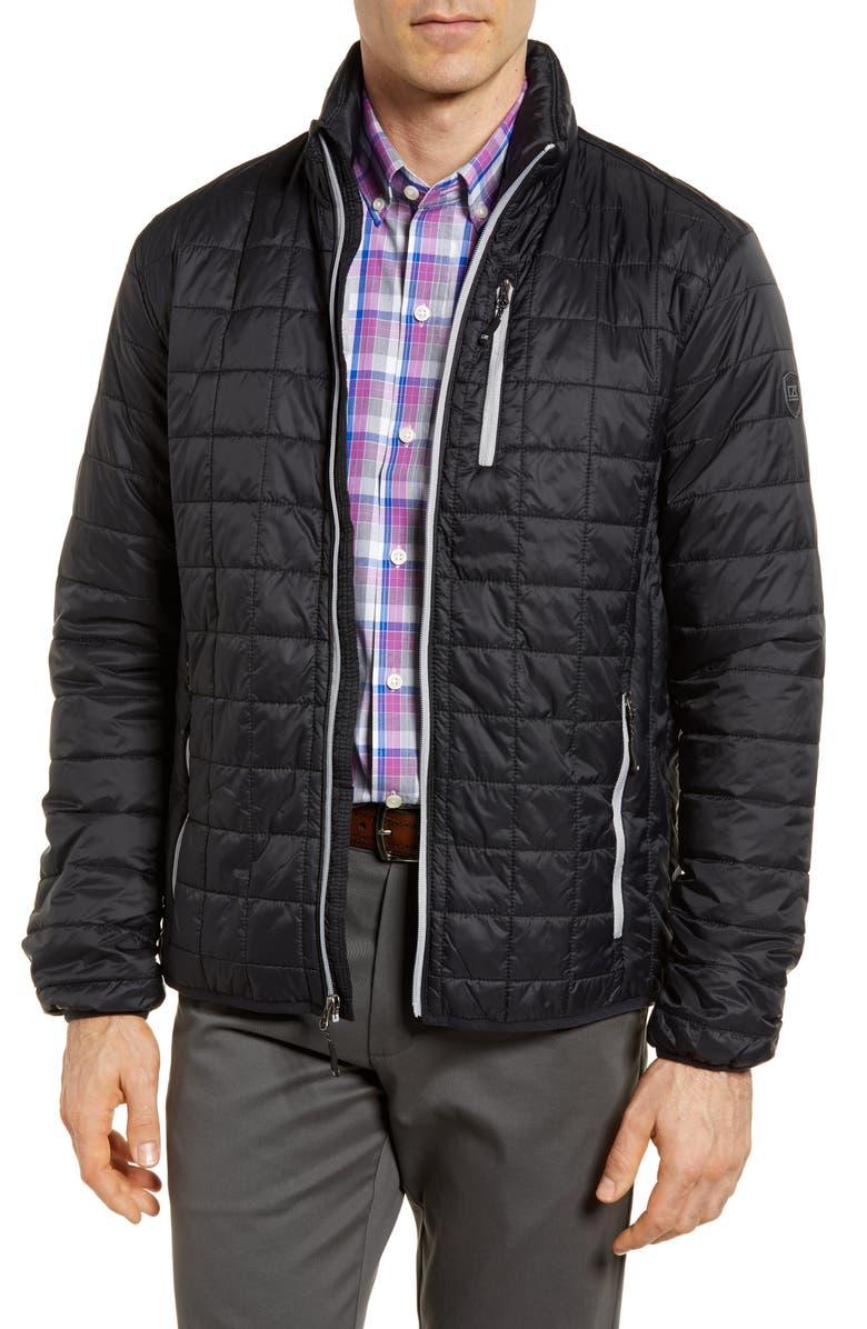 CUTTER & BUCK Rainier Classic Fit Jacket, Main, color, 001