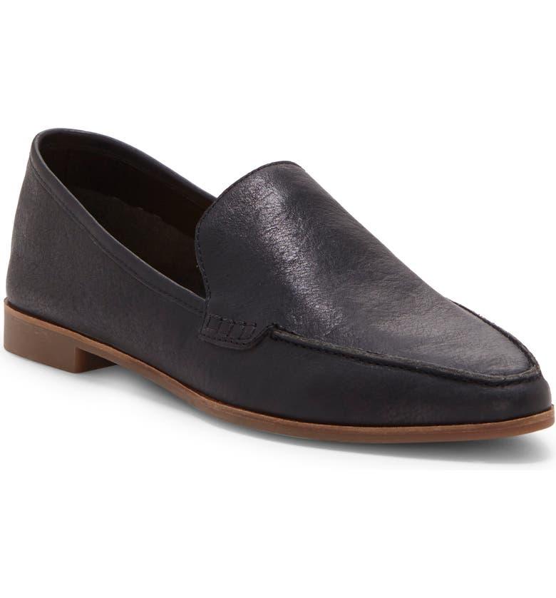 LUCKY BRAND Bejaz Loafer, Main, color, BLACK LEATHER