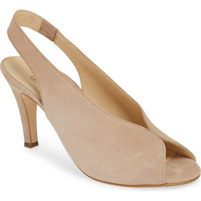 Paul Green Avanti Peep Toe Slingback Sandal, US / 7.5UK - Beige