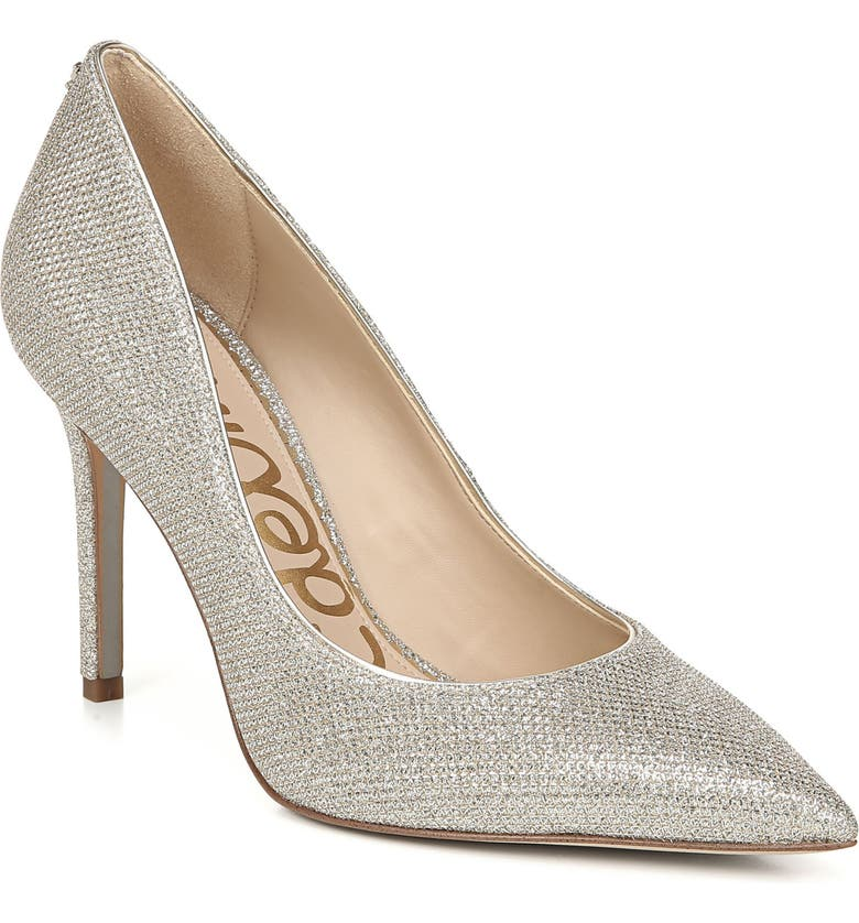SAM EDELMAN Hazel Pointy Toe Pump, Main, color, JUTE GLAM