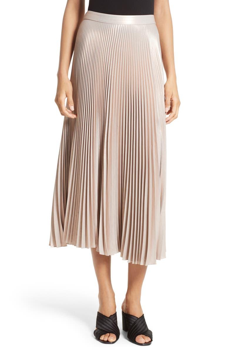 A.L.C. Bobby Pleated Midi Skirt, Main, color, 650