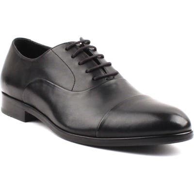 Gordon Rush Hughes Cap Toe Oxford- Black