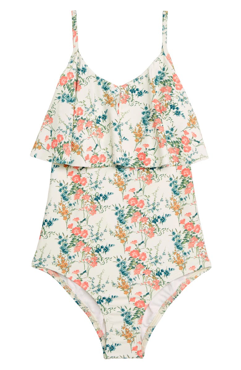 O'NEILL Sunday Floral One-Piece Swimsuit, Main, color, VANILLA